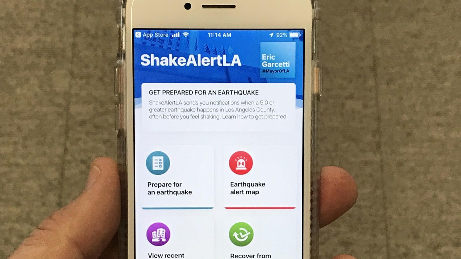 Long-awaited earthquake early warning app for L.A. can now be downloaded