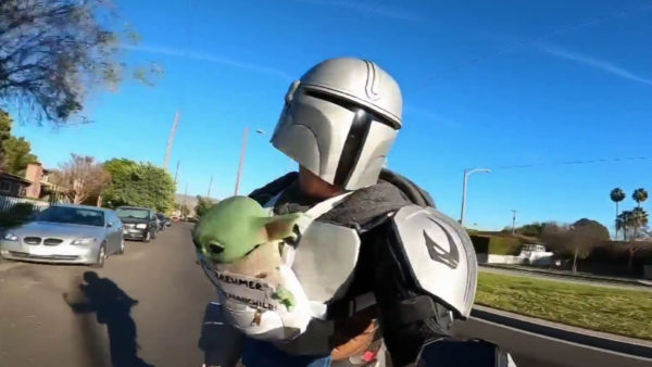 Masked Mandalorian Rides LA Streets Spreading Happiness During Pandemic – NBC Los Angeles