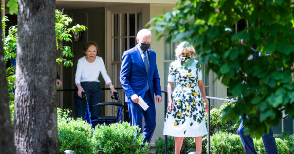 Biden, in Georgia to Promote Economic Agenda, Visits Carter