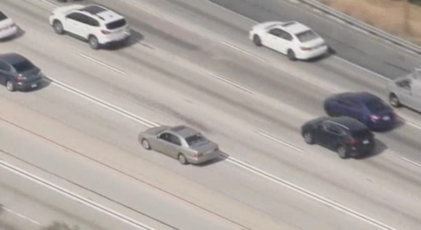 Pursuit Driver Crashes Mercedes-Benz Into Gate – NBC Los Angeles