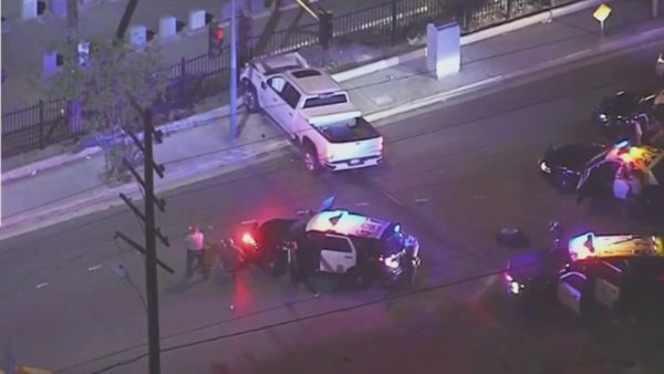 High-Speed Pursuit Ends With Driver Surrendering After Dramatic Crash in East LA – NBC Los Angeles