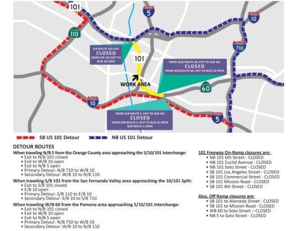 101 Freeway to Close East of Downtown LA – NBC Los Angeles